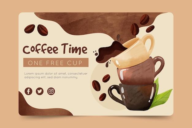 Modèle de bannière de café