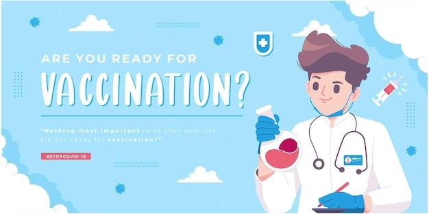 Modèle de bannière de campagne de vaccination contre les virus