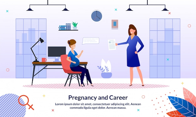 Modèle de bannière de carrière pendant la grossesse