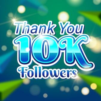 Modèle de bannière de carte 10k followers