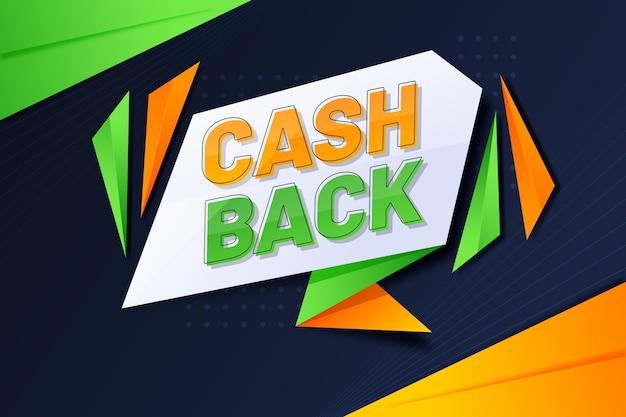 Modèle de bannière de cashback créatif