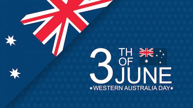 Modèle de bannière de célébration de la fête de l'australie