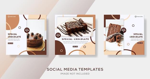 Modèle de bannière de chocolat spécial post premium