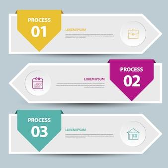 Modèle de bannière de chronologie d'infographie