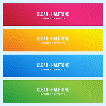 Modèle de bannière colorée avec demi-teintes
