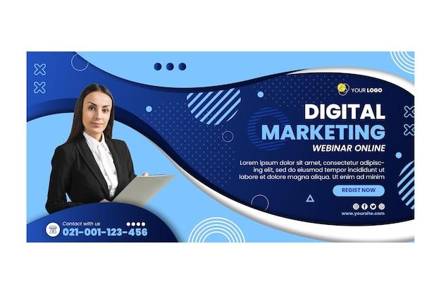 Modèle de bannière commerciale marketing