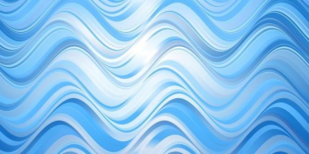 Modèle de bannière avec une conception abstraite de vagues