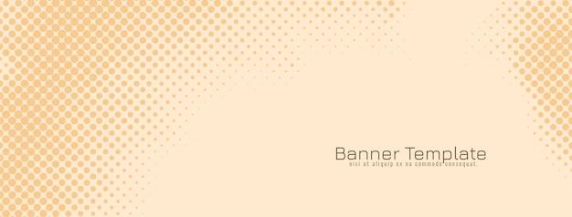 Modèle de bannière de conception de demi-teintes de couleur douce