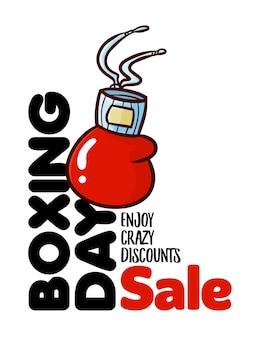 Modèle de bannière de conception verticale de vente de boxe drôle et mignon