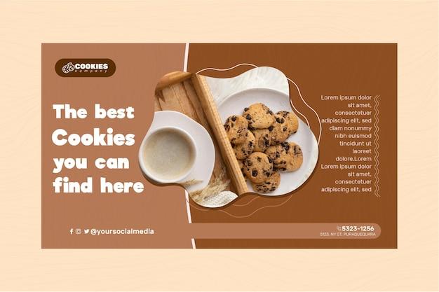 Modèle de bannière de cookies au chocolat