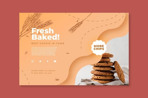 Modèle de bannière de cookies cuits au four