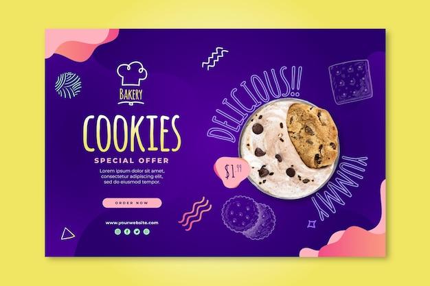 Modèle de bannière de cookies