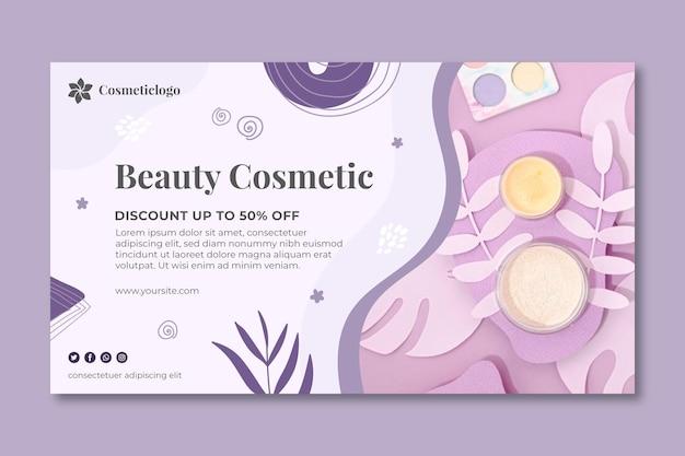 Modèle de bannière cosmétique de beauté