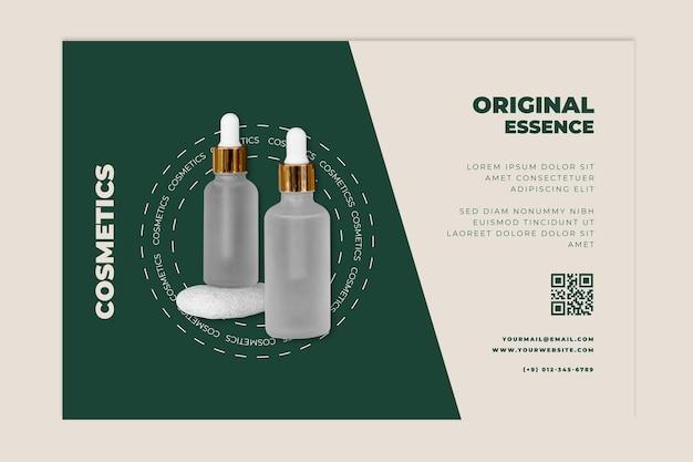 Modèle de bannière cosmétique