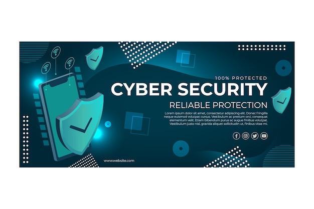 Modèle de bannière de cybersécurité