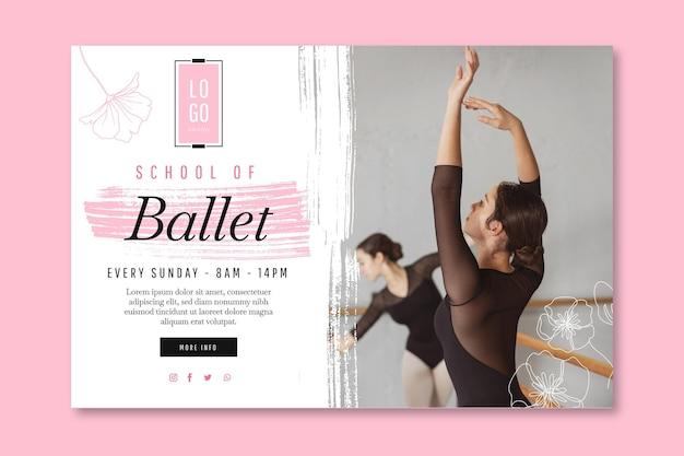Modèle de bannière de danse de ballet