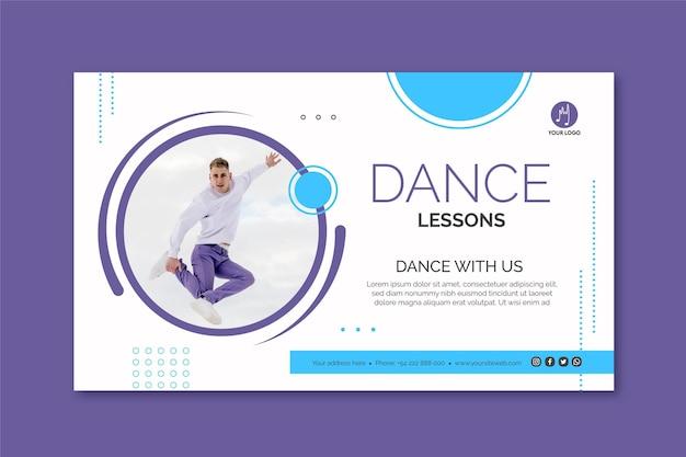 Modèle de bannière de danse