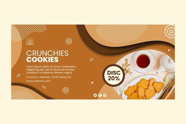 Modèle de bannière de délicieux cookies