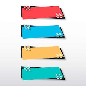 Modèle de bannière de devis moderne avec un design coloré