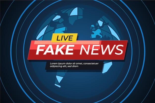Modèle de bannière en direct de fausses nouvelles