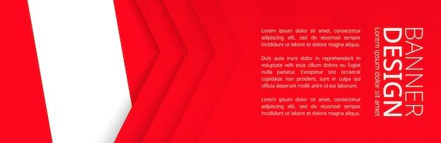 Modèle de bannière avec drapeau du pérou pour les voyages publicitaires, les affaires et autres. conception de bannière web horizontale.