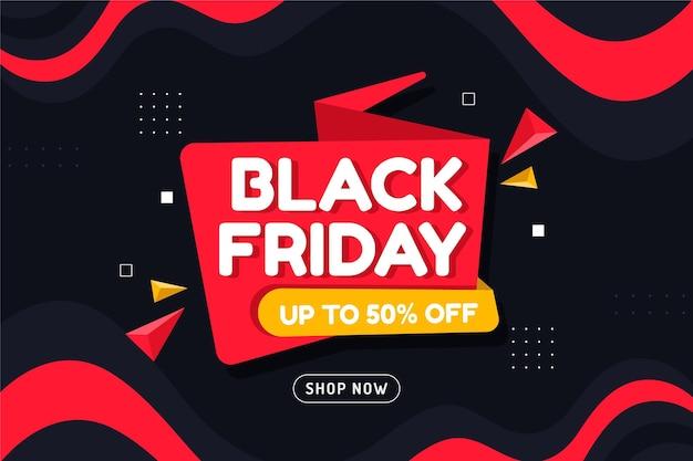 Modèle de bannière du vendredi noir avec offre