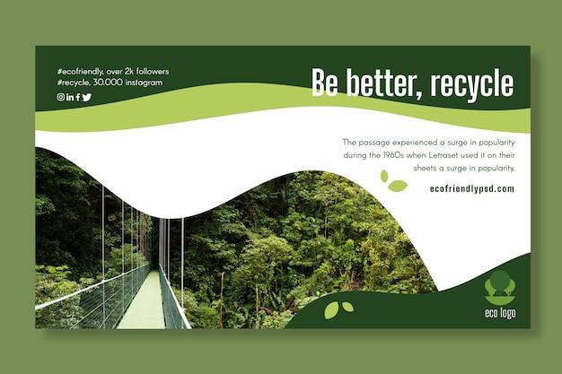 Modèle de bannière d'écologie