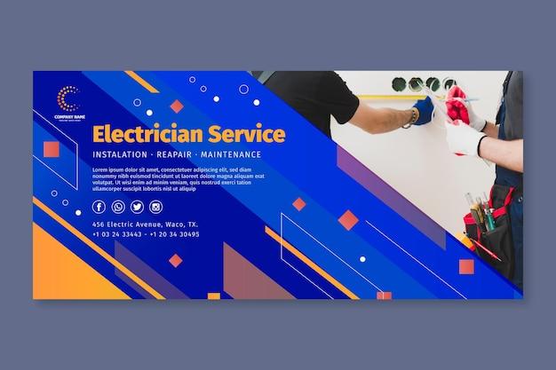 Modèle de bannière d'électricien