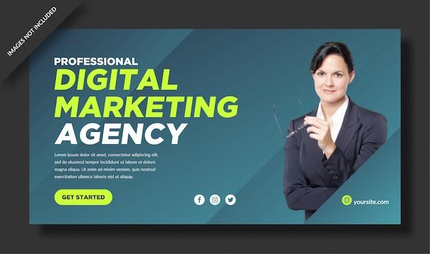 Modèle de bannière élégant pour agence de marketing numérique