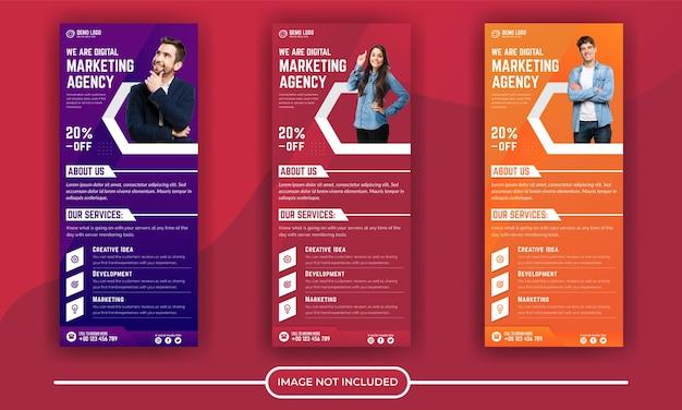 Modèle de bannière d'entreprise de marketing numérique