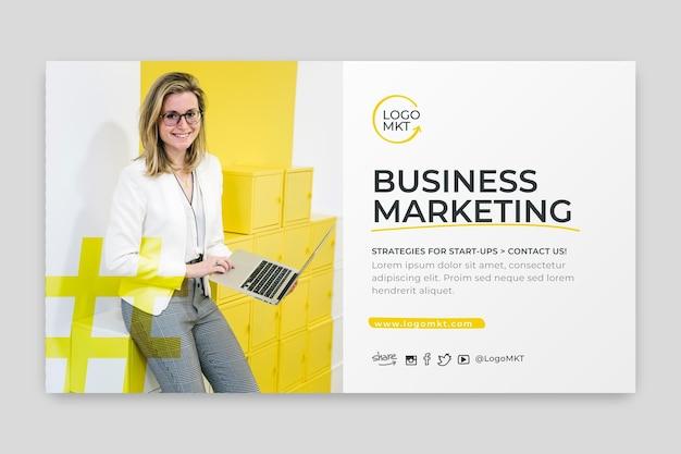 Modèle de bannière d'entreprise marketing