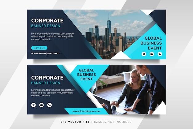 Modèle de bannière d'entreprise