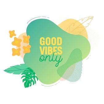 Modèle de bannière d'été. fond de forme géométrique liquide tropical avec des feuilles de palmier, bulle de fluide tropique, carte, brochure, badge promotionnel pour votre design saisonnier. illustration vectorielle