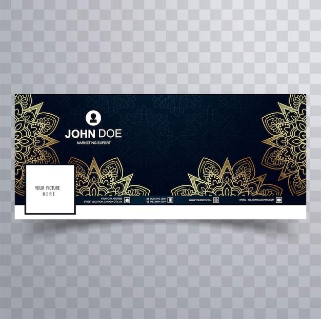 Modèle de bannière facebook décoratif floral moderne