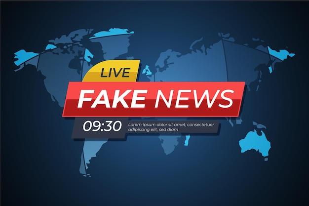 Modèle de bannière de fausses nouvelles en direct