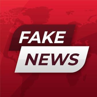 Modèle de bannière de fausses nouvelles