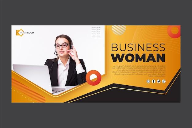 Modèle de bannière de femme d'affaires