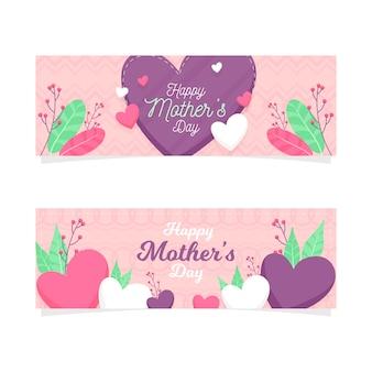 Modèle de bannière avec la fête des mères