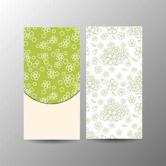 Modèle de bannière florale verticale