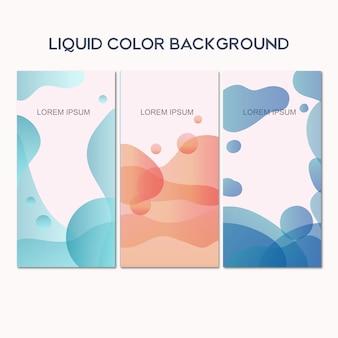 Modèle de bannière de fond de couleur liquide