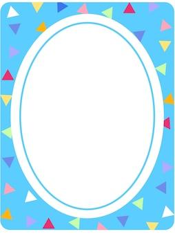 Modèle de bannière de forme ovale vide
