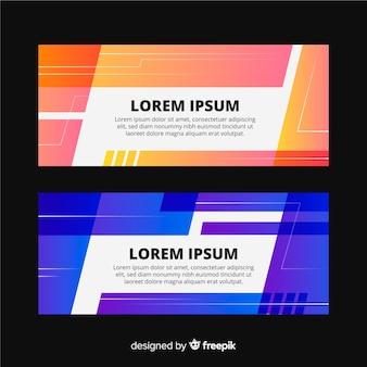Modèle de bannière de formes géométriques