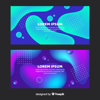 Modèle de bannière de formes liquides