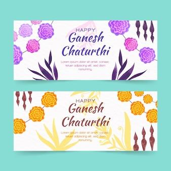 Modèle de bannière ganesh chaturthi
