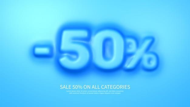 Modèle de bannière génial avec symbole convexe de 50%