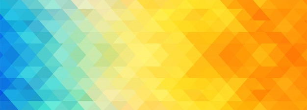 Modèle de bannière géométrique abstrait coloré