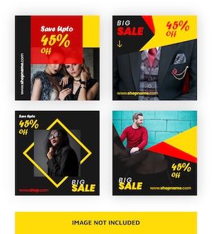 Modèle de bannière de grande vente pour les médias sociaux