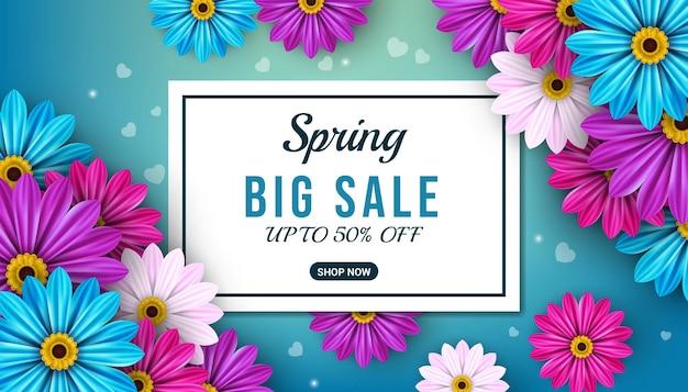 Modèle de bannière de grande vente de printemps