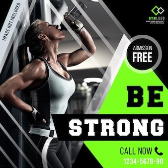 Modèle de bannière gym fitness