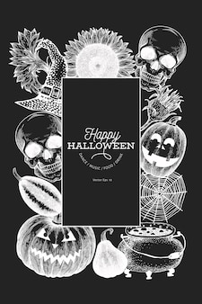 Modèle de bannière halloween.